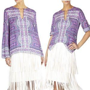 [BCBG] NWOT $228 Haida Long Sleeve Print Top